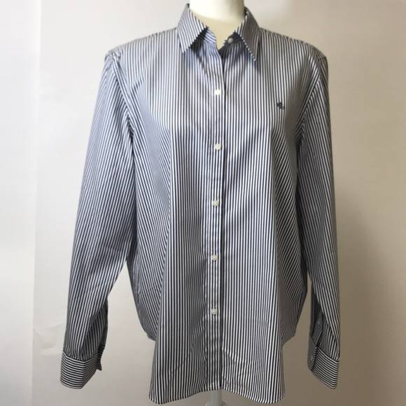 dddc0c53a Lauren Ralph Lauren Tops | Noniron 100 Cotton Shirt Xl | Poshmark